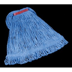 Blend Mop Heads, Cotton / Synthetic, Blue, Large