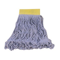 Super Stitch Blend Mop Heads, Cotton/Synthetic, Blue, Small
