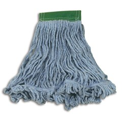 Super Stitch Blend Mop Heads, Cotton / Synthetic, Blue, Medium
