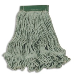 Super Stitch Blend Mop Heads, Cotton / Synthetic, Green, Medium