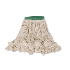Blend Mop Heads, Cotton / Synthetic, White, Medium