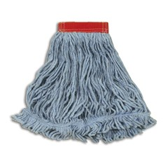 Super Stitch Blend Mop Heads, Cotton / Synthetic, Blue, Large