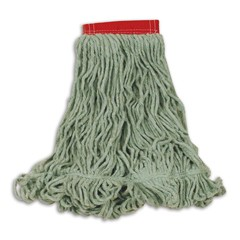 Super Stitch Blend Mop Heads, Cotton / Synthetic, Green, Large