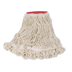 Blend Mop Heads, Cotton / Synthetic, White, Large