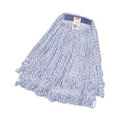 Super Stitch Finish Mops, Cotton/Synthetic, White, Medium, 1-in. Blue Headband