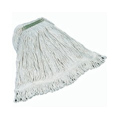 Super Stitch Mop Heads, Cotton, White, Medium, 1-in. Green Headband