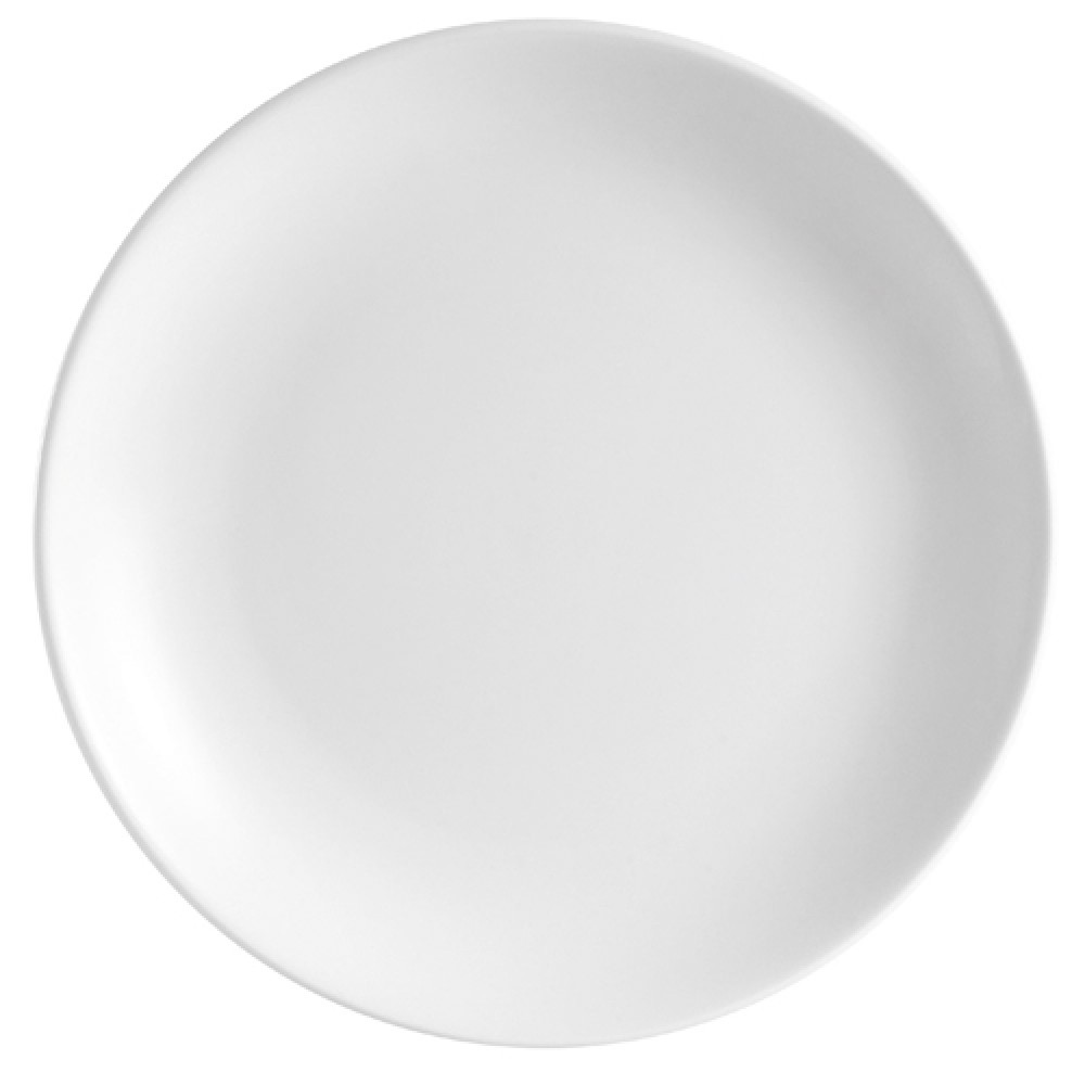 Super White Porcelain Coupe Plate, 7