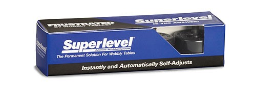 Superlevel Table Leveler B14-49 Sample Pack Of 4 With Allen Wrench
