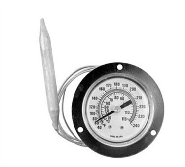 Surface-Mounted Flange Warmer Thermometer - 40 To 240F