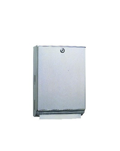 Surface-Mounted Paper Towel Dispenser, 10 3/4 x 4 x 14, Stainless Steel