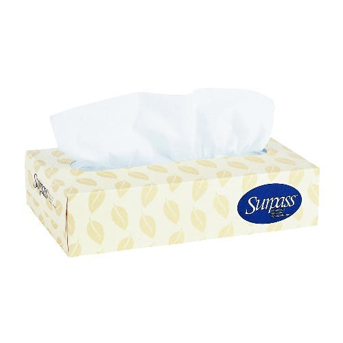 Surpass Facial Tissue , White, 20.875 x 14.938 x 18.125