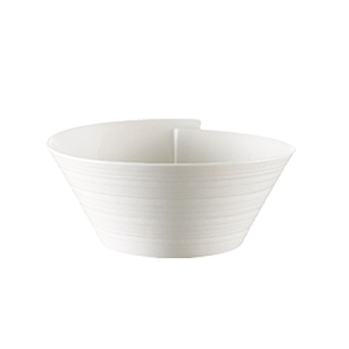 "CAC China SUS-B6 Sushi Signature 36 oz. Small Bowl, 6 1/4"" x 4"""