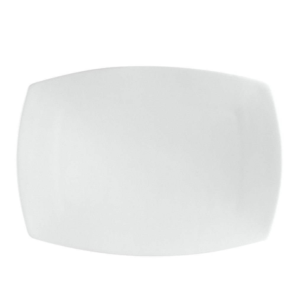 "CAC China SHA-93 Sushia Rectangular Flat Platter, 12-1/2"" x 9"""