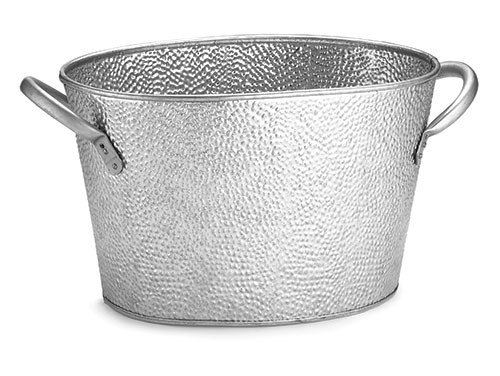 "TableCraft GT159 Galvanized Steel Oval Beverage Tub, 15"" x 9"" x 7-1/2"""