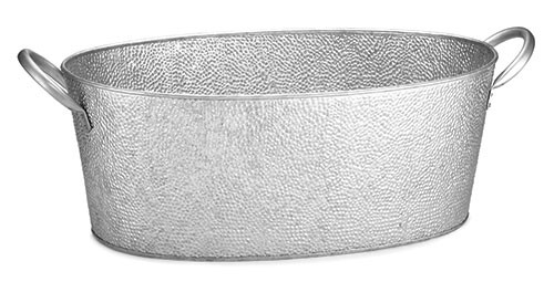 "Swazie Galvanized Steel Oval Beverage Tub, 23"" x 13"" x 7-1/2"""