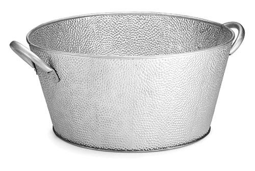 """TableCraft GT1515 Galvanized Steel Round Beverage Tub, 18-1/2"""" x 15"""" x 7"""""""