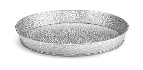 TableCraft GP12 Galvanized Steel Round Dinner Platter, 12""