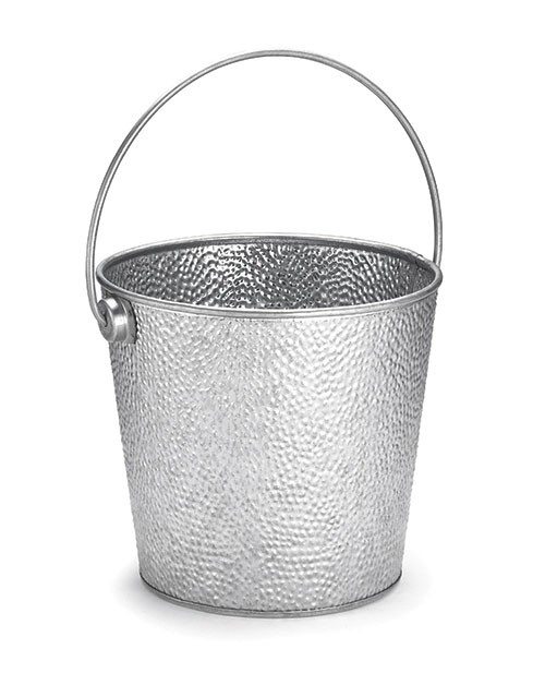 "Swazie Galvanized Steel Round Pail with Handle, 8"" x 7"""