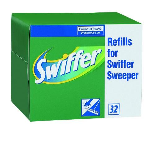 Swiffer Dry Cloth Refills, White, 32 Cloths/Box