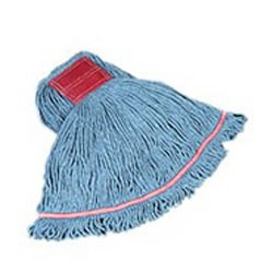Loop Wet Mop Heads, Cotton / Synthetic, Blue, Medium