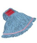 Loop Wet Mop Heads, Cotton / Synthetic, Blue, Large