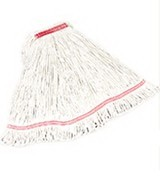 Swinger Loop Wet Mop Heads, Cotton/Synthetic, White, Large