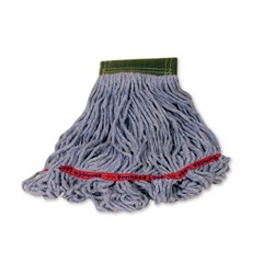 Swinger Loop Wet Mop Heads, Cotton / Synthetic, Blue, Medium