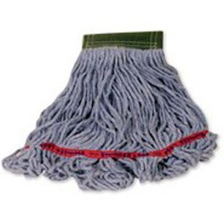 Swinger Loop Wet Mop Heads, Cotton / Synthetic, White, Medium