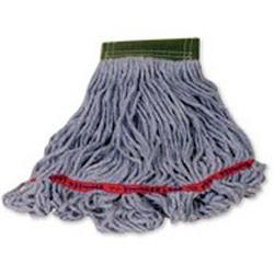 Swinger Loop Wet Mop Heads, Cotton / Synthetic, White, Medium
