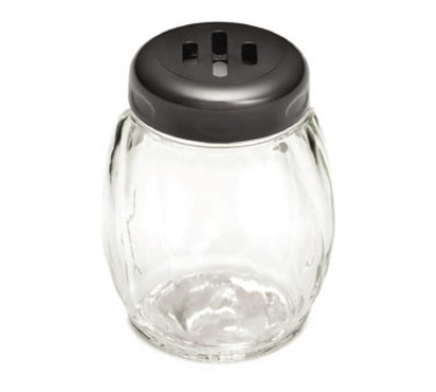 TableCraft P260SLWH Swirl Plastic 6 oz. Shaker with Slotted Plastic Top