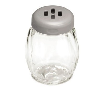 Swirl Plastic Shaker with Slotted Top, 6 Oz