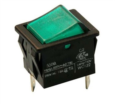 Franklin Machine Products  178-1050 Switch, Brew (Off-Mom On, Green)