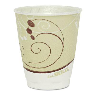 Dart Symphony Design Trophy Foam Hot/Cold Drink Cups, 8 oz., 1000/Carton