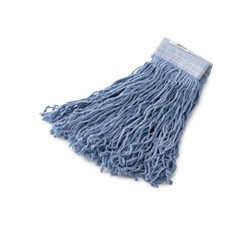Synthetic Wet Mop Heads, Blue, 24 oz, 5-in. Blue Headband