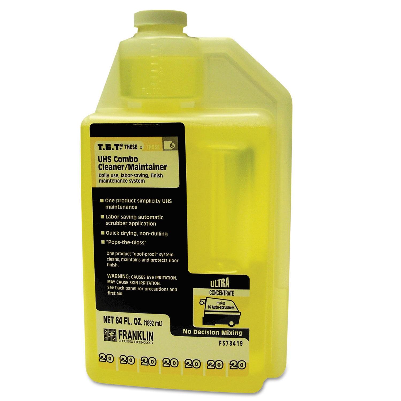 T.E.T. #20 UHS Combo Floor Cleaner/Maintainer, Citrus Scent, 2 Qt., 2/Carton