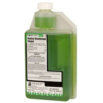 T.E.T. Neutral Disinfectant Cleaner, Apple Scent, Liquid, 2 qt. Bottle