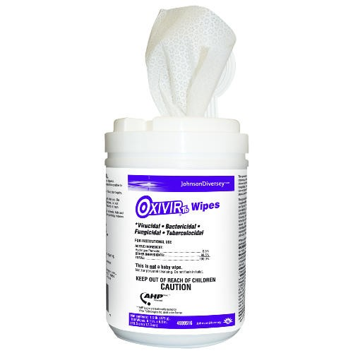 Oxivir TB Disinfectant Wipes, 12 Canisters/Carton