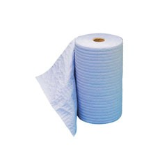 TOUGHWORKS Four-Ply Nylon Scrim Wipers, Roll, Nonperforated, White, 9 3/4 x 275'