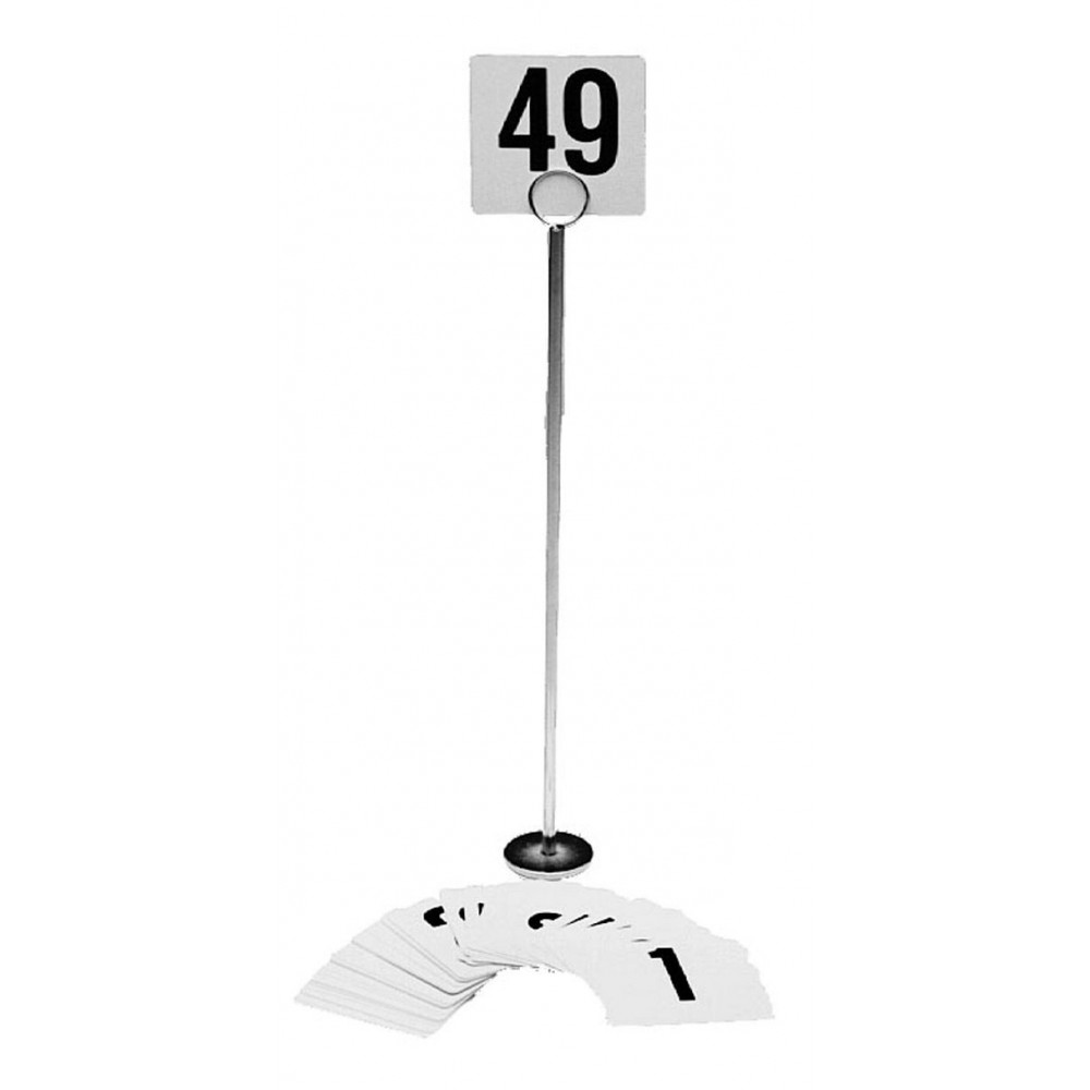 Table Number Card Holder With Chrome-Plated Base - 12