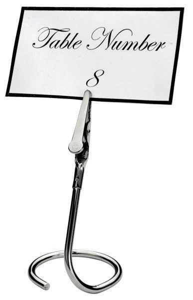 Winco TCD-3C Table Sign Clip with C-Swirl Base