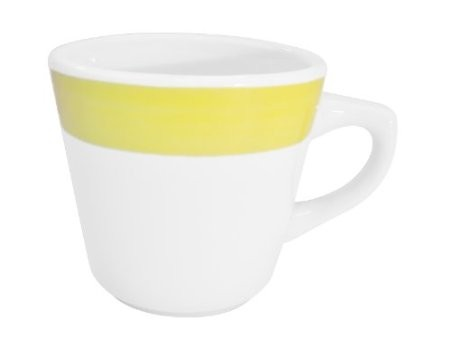 CAC China R-1-Y Rainbow Yellow Tall Cup 7.5 oz