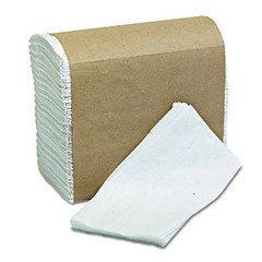 Tall-Fold Napkins, 2-Ply, 7 x 13 1/2, White