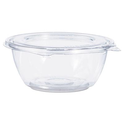 Tamper-Resistant, Tamper-Evident Bowls with Flat Lid, 12 oz, Clear, 240/Carton