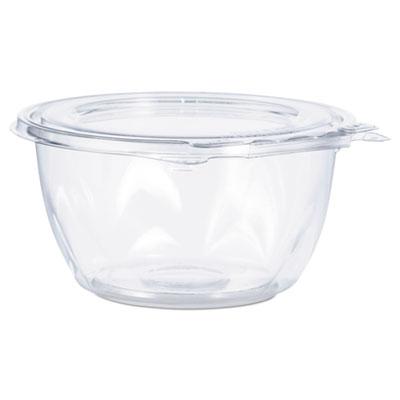 Tamper-Resistant, Tamper-Evident Bowls with Flat Lid, 16 oz, Clear, 240/Carton