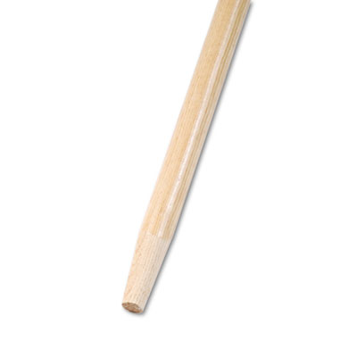 Tapered End Broom Handle, Lacquered Hardwood, 1 1/8 Dia. x 60 Long