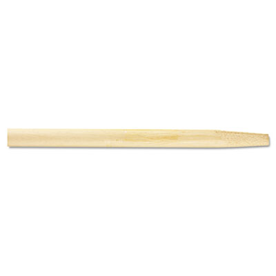 Tapered End Broom Handle, Lacquered Hardwood, 1 1/8 dia x 54, Natural