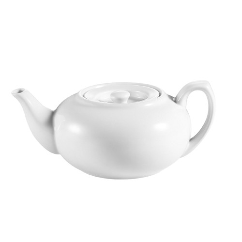 CAC China TPW-2 Tea Pot with Flat Lid 30 oz.