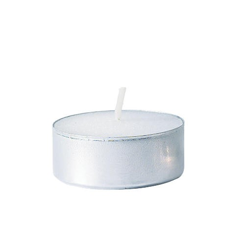 Tealight Candle, White, 5 Hour Burn, 50 per Pack