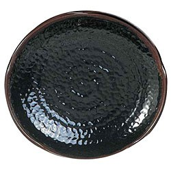 Thunder Group 1816TM Tenmoku Lotus Shape Melamine Plate 16""