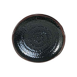 Thunder Group 1810TM Tenmoku Lotus Shape Melamine Plate 10-1/2""